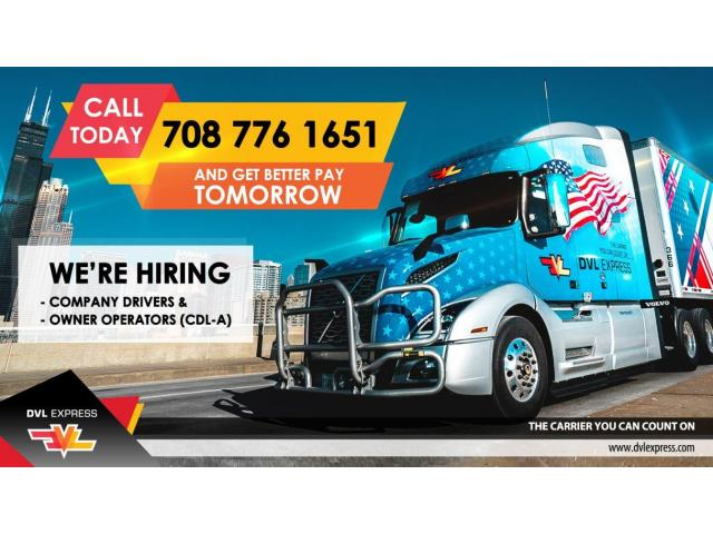 OWNER OPERATORS WANTED!!!GROSS 240K+ per year!!!CDL CLASS A ONLY
