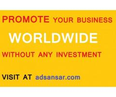 BEST SERVICE FREE OFFER INDIA AND WORLDWIDE AT adsansar.com