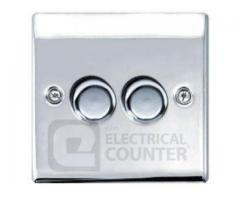 Top quality Brushed Chrome Dimmer Switch