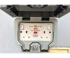 BG waterproof socket at Electrical Couter