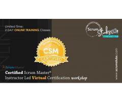 Certified Scrum Master | CSM | Professional Trainers | Virtual Instructor ( CST ) Led Workshop |