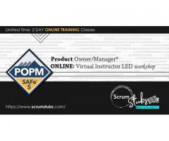 Product Owner | Product Manager | POPM | Professional Trainers | Virtual Instructor Led Workshop |
