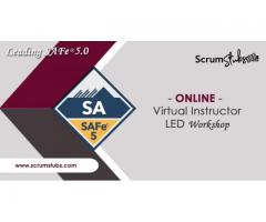 Agile Training | Certification | Leading SAFe 5.0 | Virtual Instructor Led Workshop | Scrum Stubs |