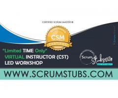 Certified Scrum Master | CSM | Certification | Virtual Instructor ( CST ) Led Workshop |