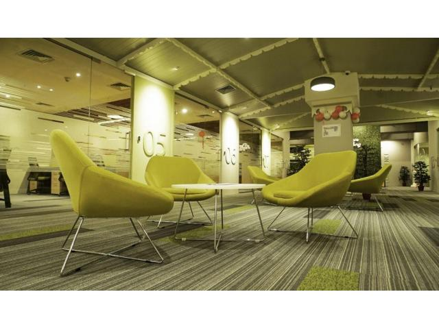 The spaces are fully furnished coworking space in Kochi