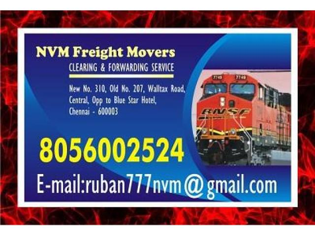 NVM Freight Movers Since 1979 | 8056002524 | Chennai Rly. Clearing Agency | 1127 |