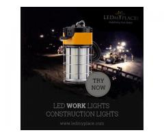 LED Work Lights with Protective Steel Cage for Construction Work