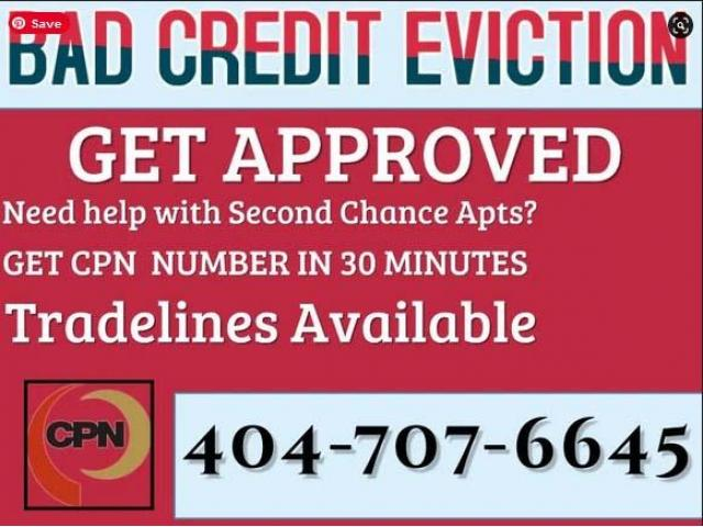 404-707-6645 Bad Credit Eviction Get approved $75 CPN NUMBER
