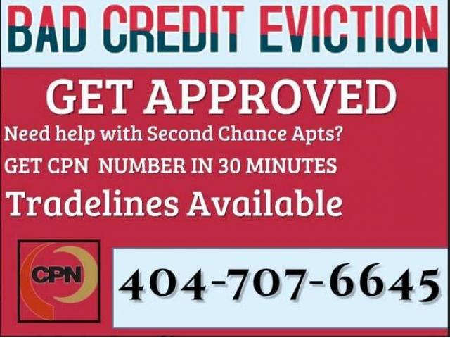404-707-6645 bad credit eviction $75 CPN numbers second Chance apartment