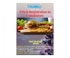 FSSAI Registration in Coimbatore | FSSAI license in 2 days