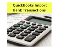 Quickbooks import bank transactions