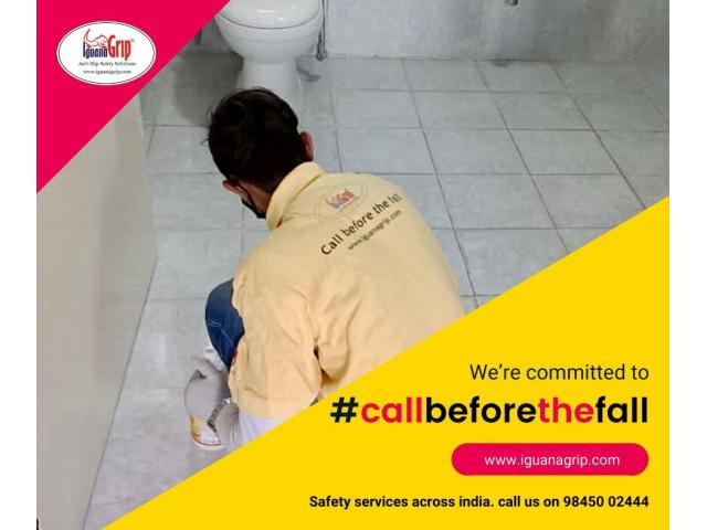 #CallBeforeTheFall providing #antislip #safety services for #bathrooms across #India.