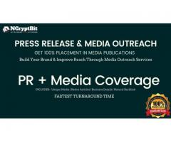 Guaranteed Media Coverage By NCryptBit, Packages starts from US$ 299