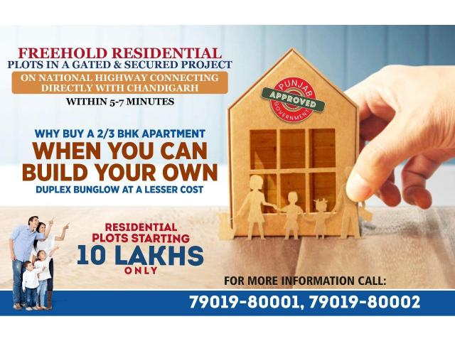 Freehold Residential Plots with immediate Possession Near Chandigarh