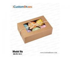 Custom Printed Single donut boxes with window