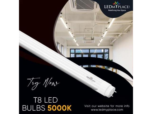 STURDY T8 LED BULBS IN 5000K TO GET EXTRA BRIGHTNESS!