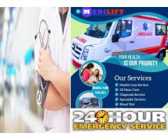 Emergency Medical Service in Patna by Medilift at Low Fare