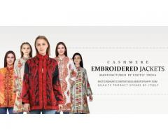 Cashmere Emboidered Jackets for ladies