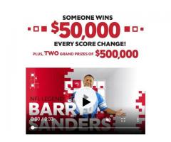 Someone Wins $50000 Every Score Change! Plus TWO Grand Prize of $500000