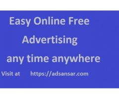 Advertisement for free worldwide at adsansar