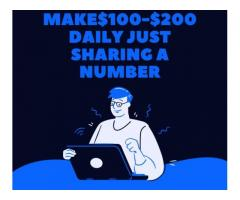 Get paid $100-$200 daily just texting!!!