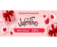 Happy Valentine's from Semo Gallery with Big SALE 15% discount for all store products.