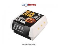 Best Custom Burger Boxes Packaging at GoToBoxes