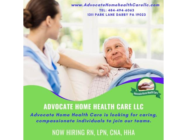 We are currently hiring RNs, LPNs, CNAs & HHAs