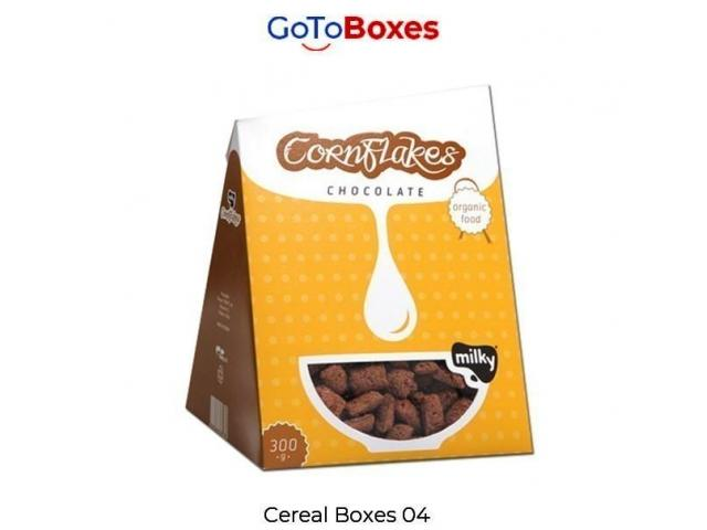 Custom Cereal Boxes Wholesale Discounts at GoToBoxes