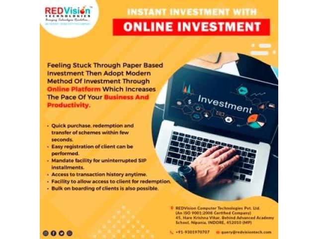 Why Mutual Fund Software for IFA provide Online Investment?